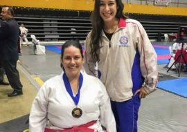 Photo of Stephanie Arrache and Sensei Tamara Canedo