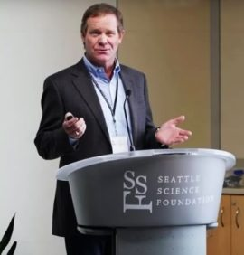 Dr. J. Patrick Johnson speaking at the Seattle Science Foundation